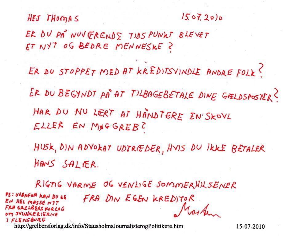 Månedens Kommentar maj 2010 bilagEA25: Kreditsvindleren Thomas Jepsen / Thomas Marinus Stausholm ...